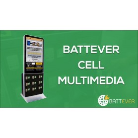 Borne de rechargement mobile à Ecran : BATTEVER Cell Multimedia