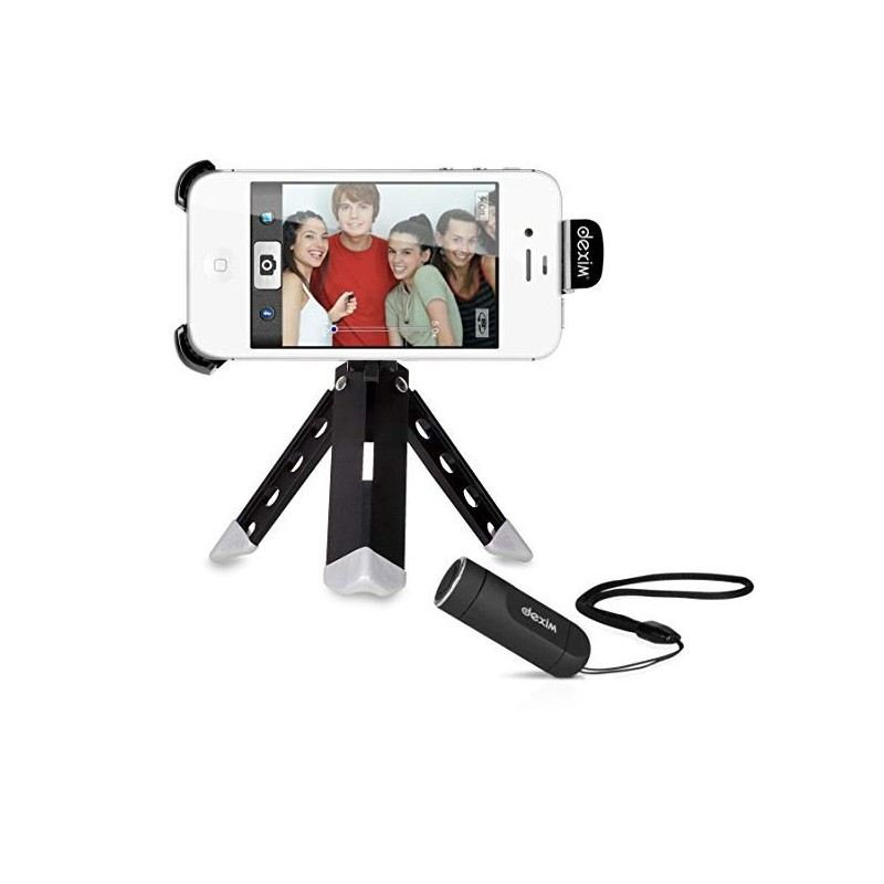 Dexim ClickStik Support Bluetooth pour appareil photo à distance et trépied pour iPhone 4 4S