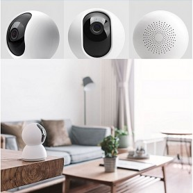 XIAOMI mijia Smart 720P caméra IP WiFi Pan-tilt Version - BLANC