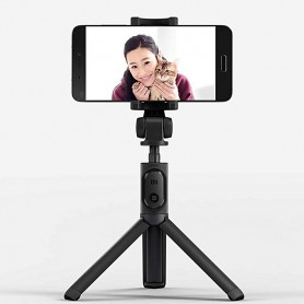 Xiaomi Black Foldable Tripod Selfie Stick Bt With Wireless