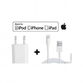 Apple Chargeur IPhone Original Apple Fast+Cable 1M Blanc Charger Premium Adapter Apple